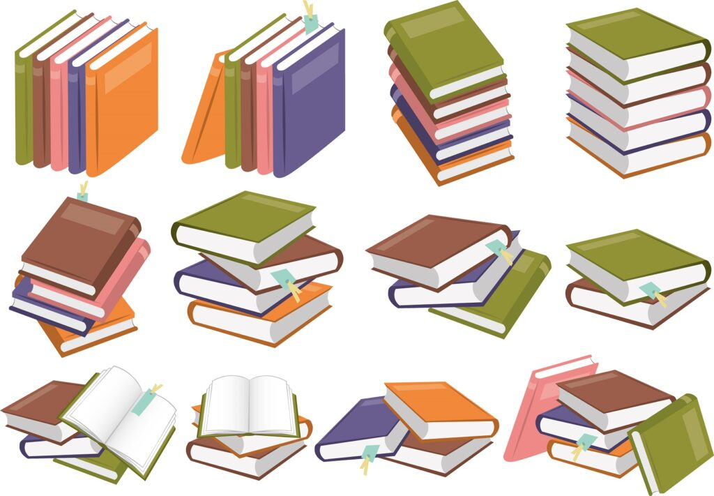 何冊もある本