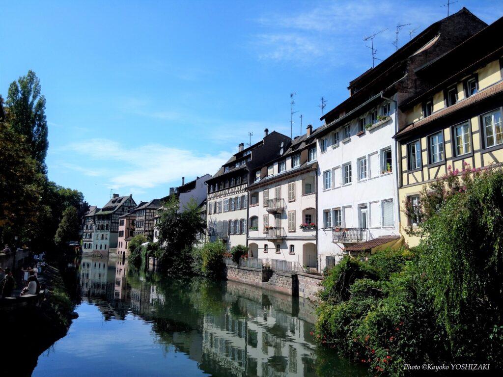 Maisons colorées dans le quartier de la Petite France