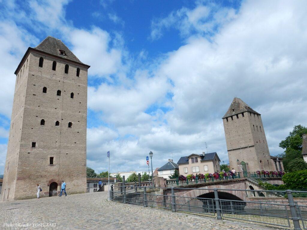 ストラスブールのプティット・フランス地区-城塞都市としての面影を残す塔
