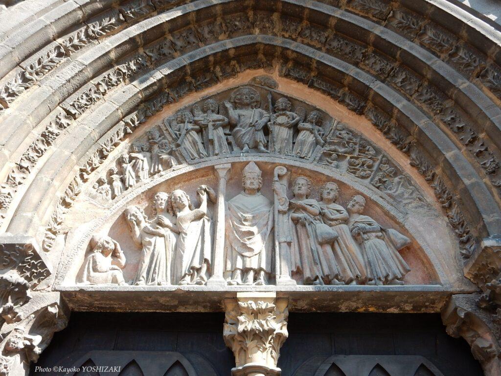 Le tympan de la Collégiale Saint-Martin de Colmar