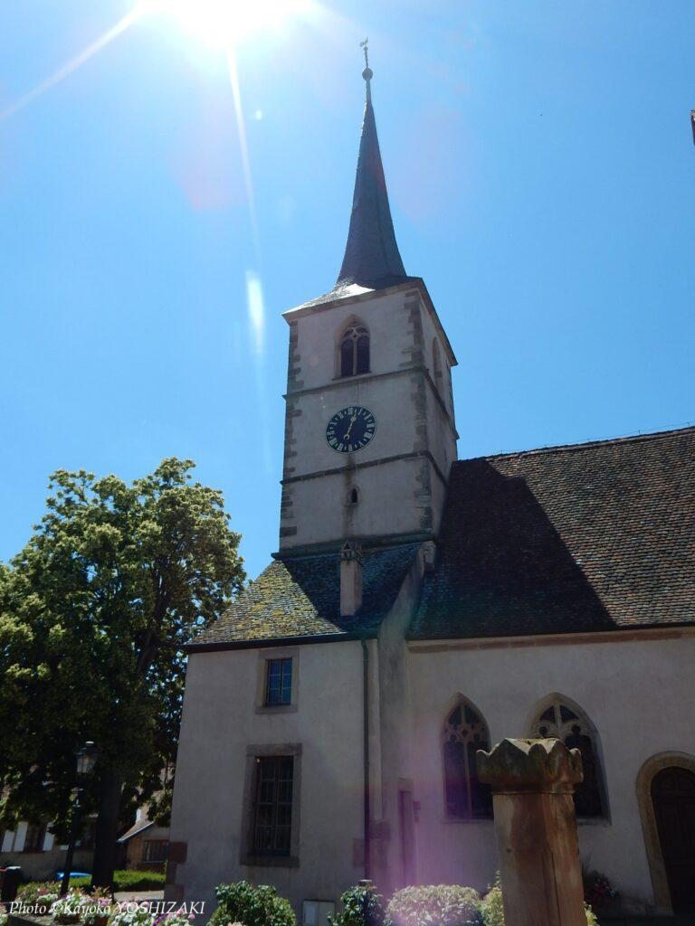 Mittelbergheim-Eglise-protestante-clocher